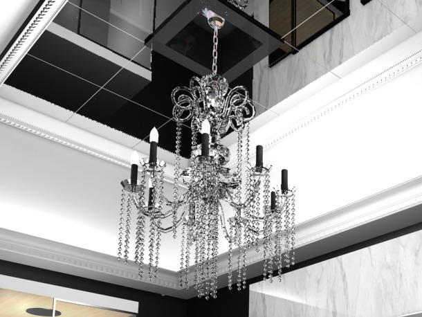 Villa hang shade type crystal droplight, droplight, lamps an