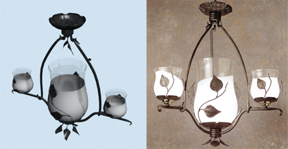 European rural style hanging lamp, droplight, lamps and lant