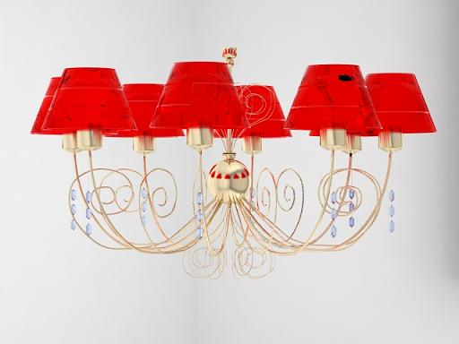 Red lamp cap amethyst pendant lamp, lamps and lanterns, ligh