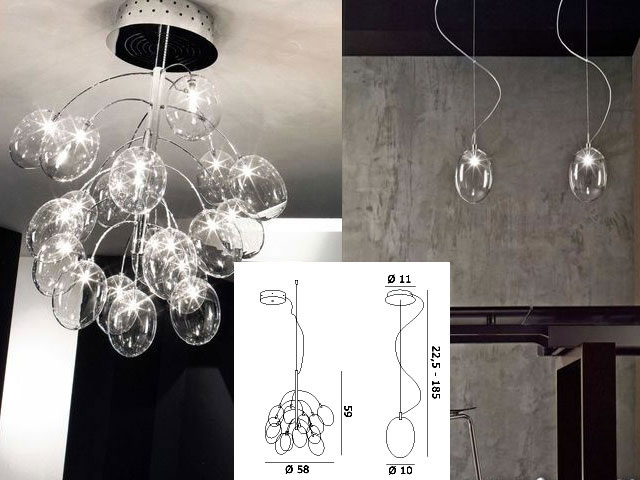 Dream glass bubble droplight, droplight, glass lamp act the