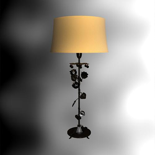 Roses, wrought iron household desk lamp, table lamp, lamps a