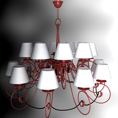 Red multiple lights cap droplight, lamps and lanterns, light