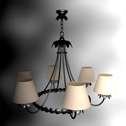 Ou shi, wrought iron ring droplight, droplight, lamps and la