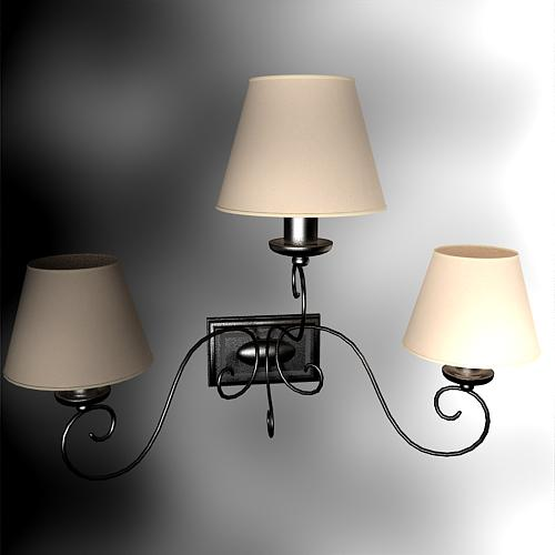 Jane European furniture three lamp cap wall lamp, wall lamp,