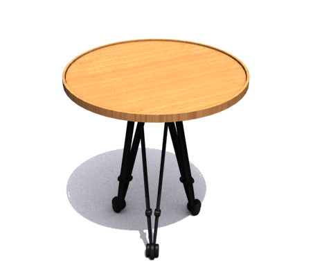 Yellow round tea table, furniture, tea table, household ador