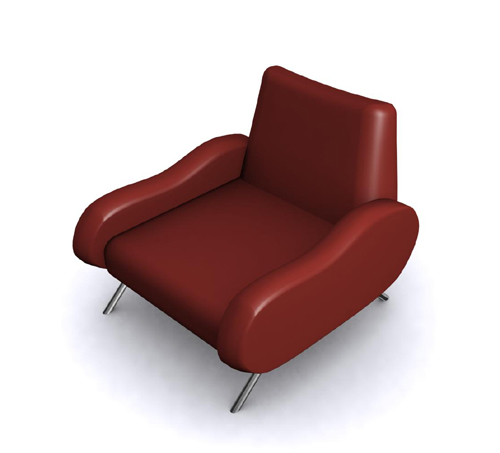 Dark red recreational sofa chair, sofa, single person sofa,