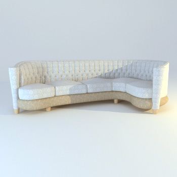 White cloth art sofa, soft sofa, more than cloth art sofa, m