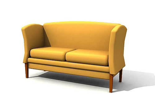 Orange double contracted cloth art sofa, back of a chair, so