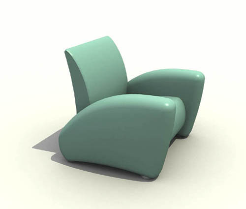 Green personality single sponge sofa, back of a chair sofa,