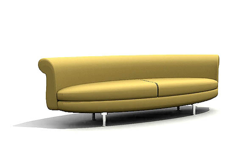 Yellow cloth art sofa, soft sofa, many household sofa, many