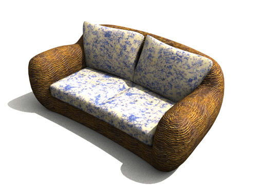 Cream-colored fabric household sofa, sofa, household sofa, m