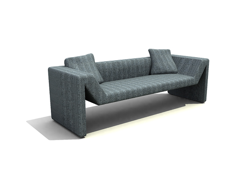 Blue modern fashion double sofa, sofa, household sofa, many