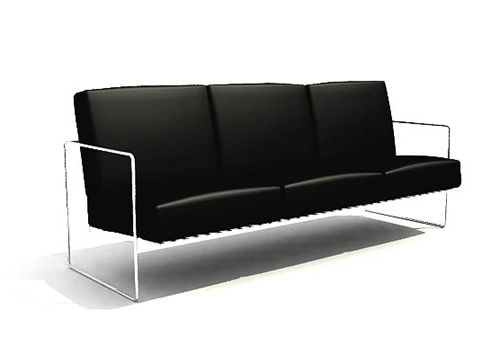 Black comely fashion sofa, sofa, household sofa, many people