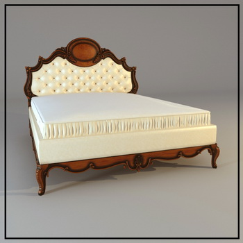 European wood Simmons bed, double bed, European-style beds,