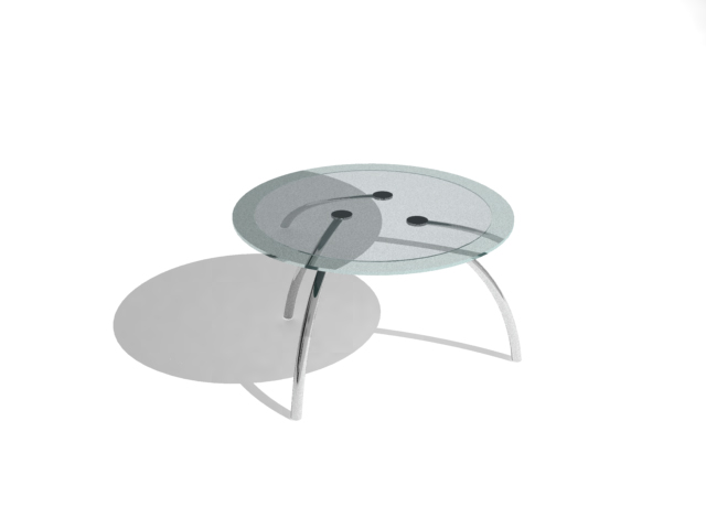 Modern fashion circular glass tea table, tea table, glass fu