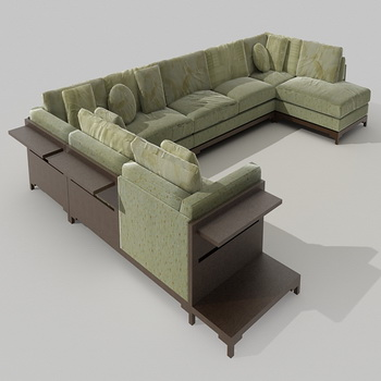 Europe type sofa, soft green people combination of Europe ty
