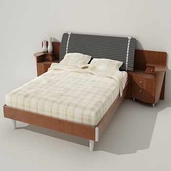 Modern fashion contracted bed, bed, double bed, furniture, w
