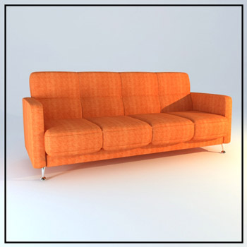 Orange many soft sofa, cloth art sofa, contracted sofa, soft