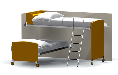 Children's double bed, bed, household children bed, furnitur