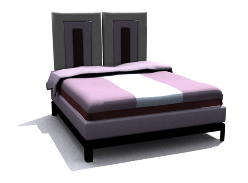 Personality simmous bed, double bed, bed, household daily fu