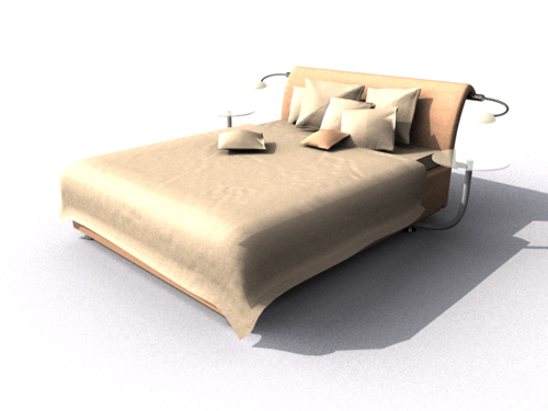 Contemporary and fashionable household double bed, advocate