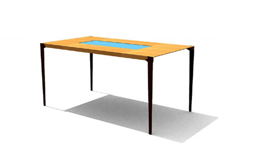 Simple rectangular table, the table, the real wood furniture