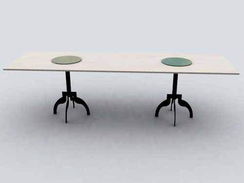 Strip compound wooden table, tables, commonly used furniture