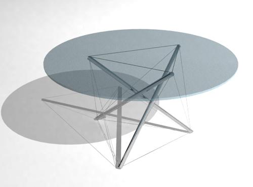Circular glass brunet tea table, fashionable tea table, cont