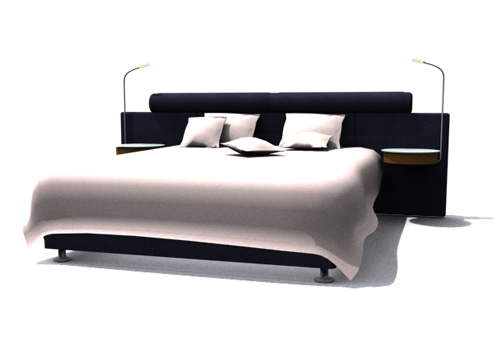 Modern double hammock, double bed, bed NPC, furniture, fashi