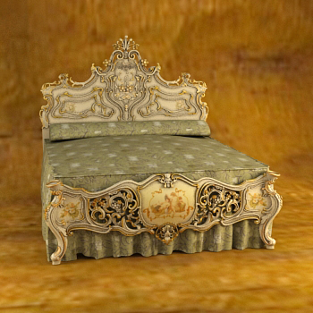 Russia carved costly bed, European furniture, European bed,