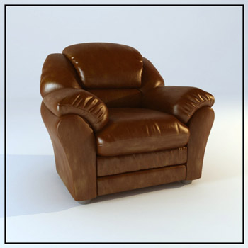 Leather brown single person sofa, European furniture, Europe