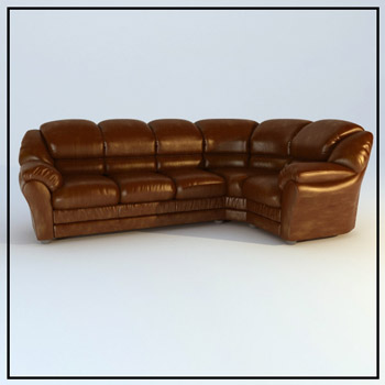 Leather brown people single person sofa, European furniture,
