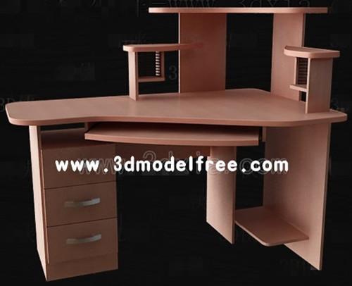 Brown versatile computer desk