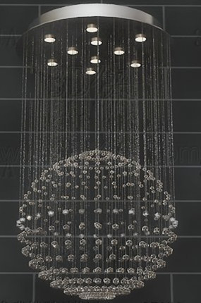 Spherical bead curtain pendant lamp