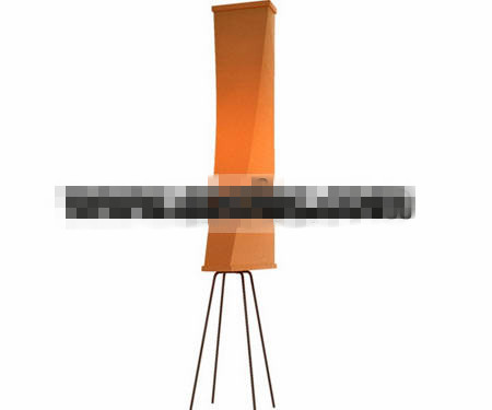 Long orange floor lamp