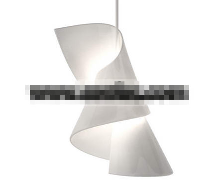 White abstract rotation pendant lamp