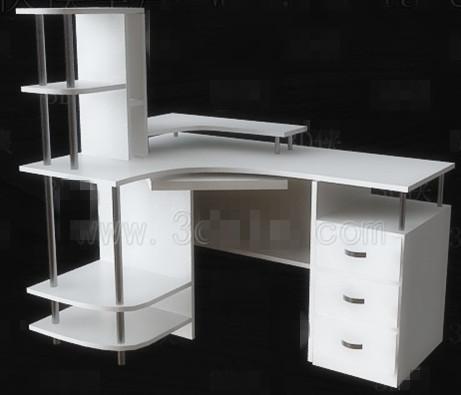 Simple white computer desk