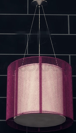 Purple lampshade pendant lamp