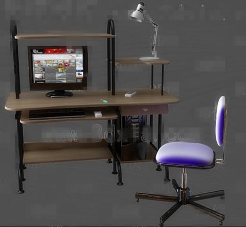 Computer desk combination