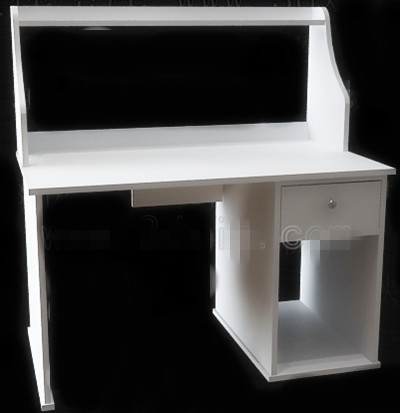Simple style white computer desk