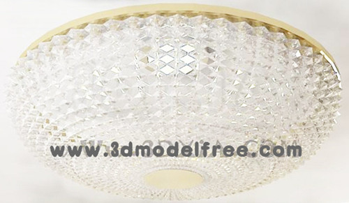 Round crystal curtain ceiling lamp