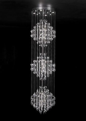Modern three layers crystal chandelier