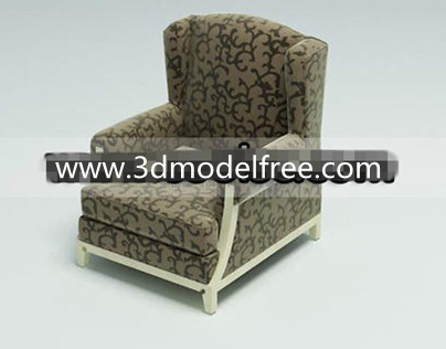 Wooden bottom fabric single sofa