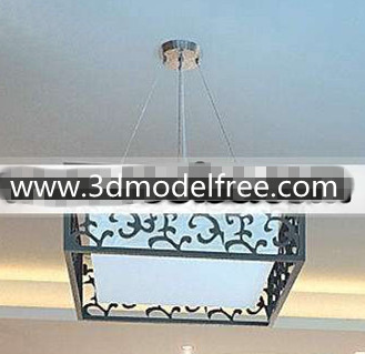 Link toChinese carved square pendant lamp