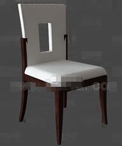 White openwork back chairs