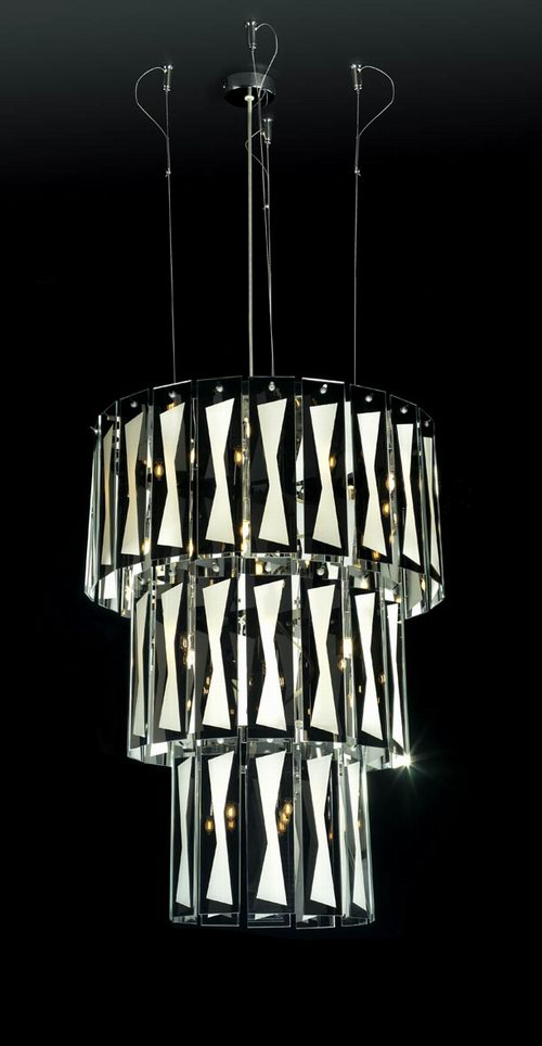 Modern large crystal chandelier