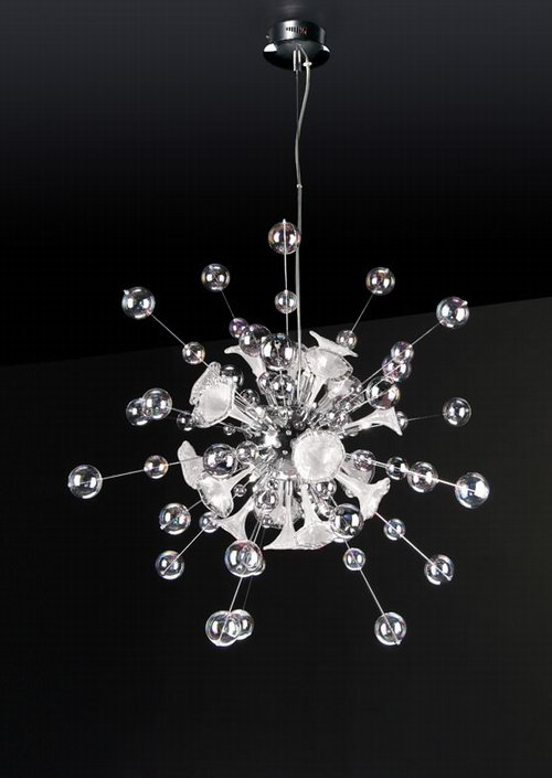 Link to3d model of radial crystal chandelier