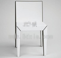 Link toModern pure white backed chairs