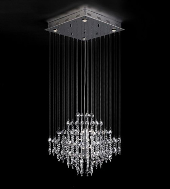 European modern line curtain crystal chandeliers