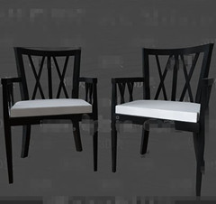 Modern black the white seat chair